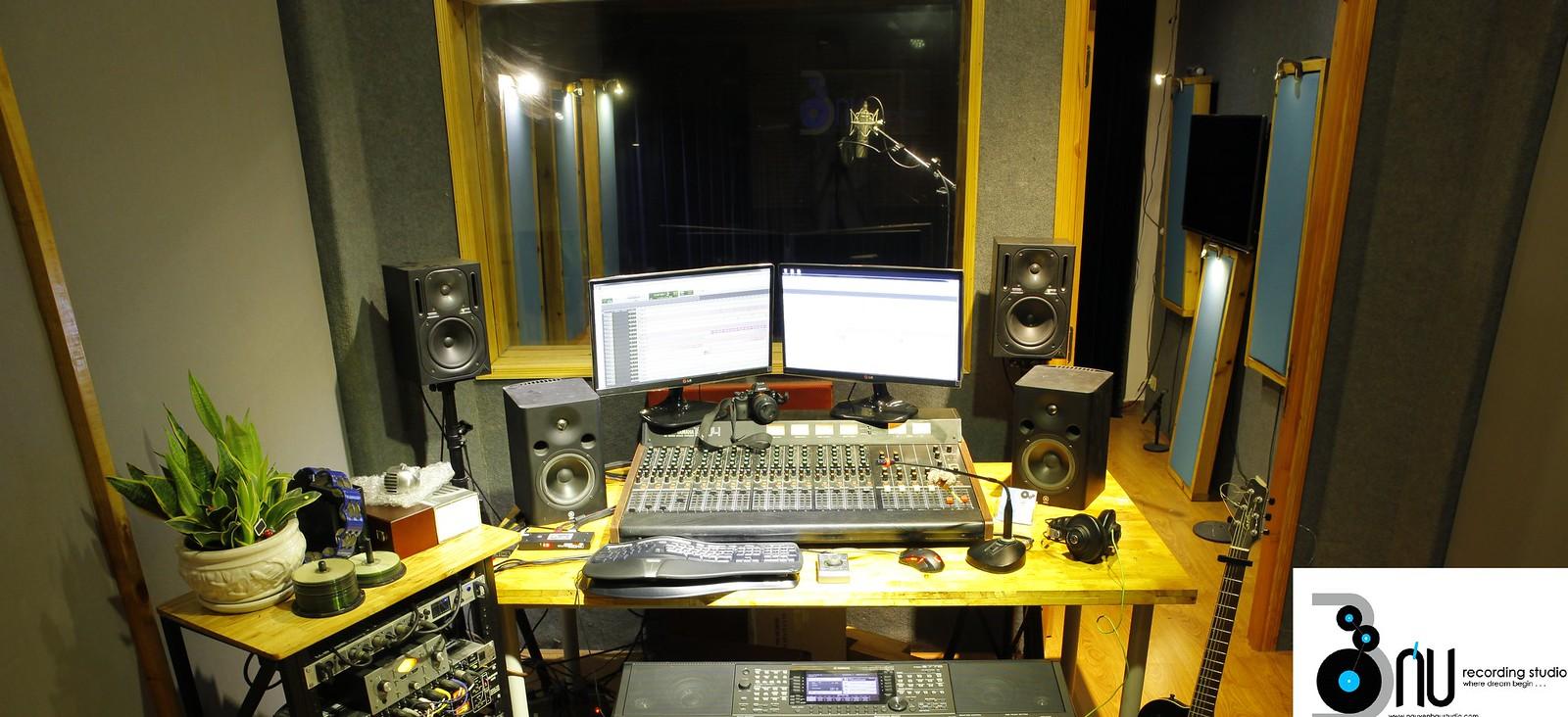 Phong thu am lớn và phòng thu âm nhỏ 1600